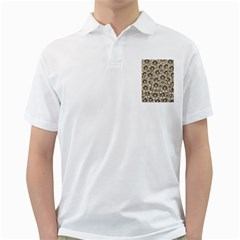 Background Flowers Golf Shirts