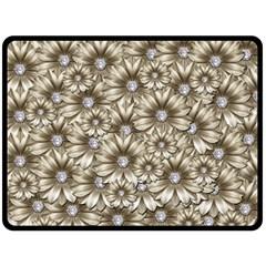 Background Flowers Fleece Blanket (large)