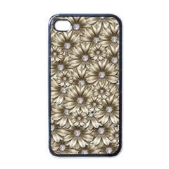 Background Flowers Apple Iphone 4 Case (black)