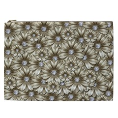 Background Flowers Cosmetic Bag (xxl)