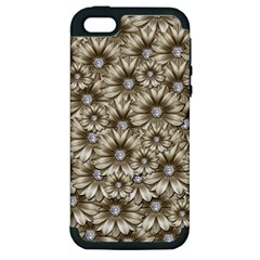 Background Flowers Apple Iphone 5 Hardshell Case (pc+silicone)