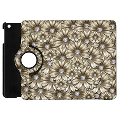 Background Flowers Apple Ipad Mini Flip 360 Case