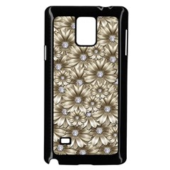 Background Flowers Samsung Galaxy Note 4 Case (black) by Sapixe