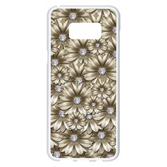 Background Flowers Samsung Galaxy S8 Plus White Seamless Case
