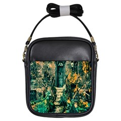 Porch Door Stairs House Girls Sling Bags