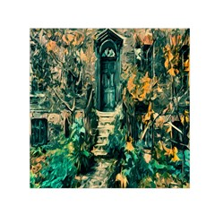 Porch Door Stairs House Small Satin Scarf (square)