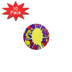 Embroidery Dab Color Spray 1  Mini Magnet (10 Pack)