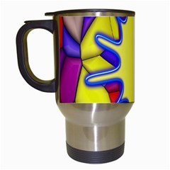 Embroidery Dab Color Spray Travel Mugs (white)