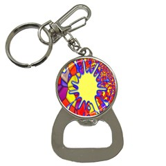 Embroidery Dab Color Spray Bottle Opener Key Chains