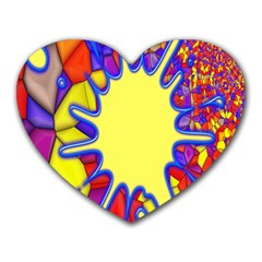 Embroidery Dab Color Spray Heart Mousepads