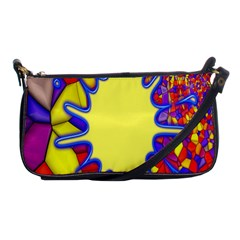 Embroidery Dab Color Spray Shoulder Clutch Bags