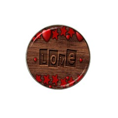 Background Romantic Love Wood Hat Clip Ball Marker by Sapixe