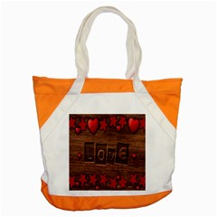 Background Romantic Love Wood Accent Tote Bag
