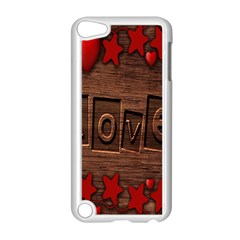 Background Romantic Love Wood Apple Ipod Touch 5 Case (white)