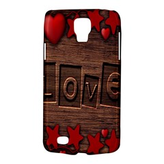 Background Romantic Love Wood Galaxy S4 Active