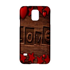 Background Romantic Love Wood Samsung Galaxy S5 Hardshell Case