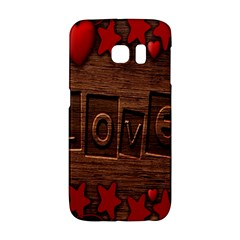 Background Romantic Love Wood Galaxy S6 Edge