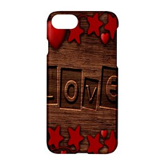 Background Romantic Love Wood Apple Iphone 7 Hardshell Case