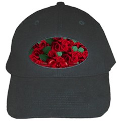 Floral Flower Pattern Art Roses Black Cap