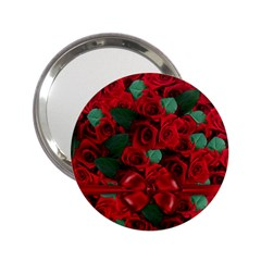 Floral Flower Pattern Art Roses 2 25  Handbag Mirrors