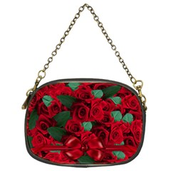 Floral Flower Pattern Art Roses Chain Purses (two Sides)