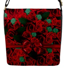 Floral Flower Pattern Art Roses Flap Messenger Bag (s)