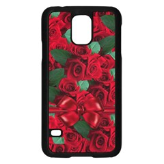 Floral Flower Pattern Art Roses Samsung Galaxy S5 Case (black)