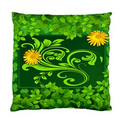 Background Texture Green Leaves Standard Cushion Case (two Sides) by Sapixe