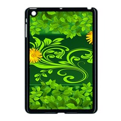Background Texture Green Leaves Apple Ipad Mini Case (black)