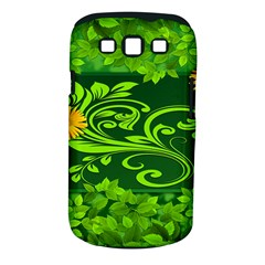 Background Texture Green Leaves Samsung Galaxy S Iii Classic Hardshell Case (pc+silicone)