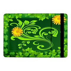 Background Texture Green Leaves Samsung Galaxy Tab Pro 10 1  Flip Case by Sapixe