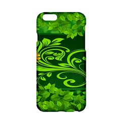 Background Texture Green Leaves Apple Iphone 6/6s Hardshell Case by Sapixe