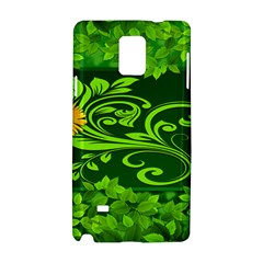 Background Texture Green Leaves Samsung Galaxy Note 4 Hardshell Case