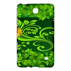 Background Texture Green Leaves Samsung Galaxy Tab 4 (8 ) Hardshell Case