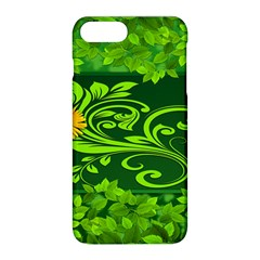 Background Texture Green Leaves Apple Iphone 8 Plus Hardshell Case