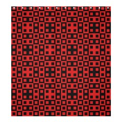 Abstract Background Red Black Shower Curtain 66  X 72  (large)