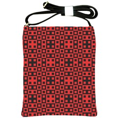 Abstract Background Red Black Shoulder Sling Bags