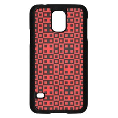 Abstract Background Red Black Samsung Galaxy S5 Case (black)