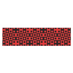 Abstract Background Red Black Satin Scarf (oblong)