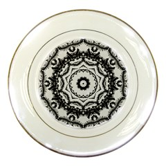 Abstract Pattern Fractal Porcelain Plates