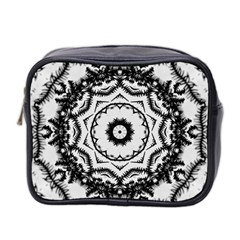 Abstract Pattern Fractal Mini Toiletries Bag 2 Side