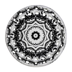 Abstract Pattern Fractal Ornament (round Filigree)