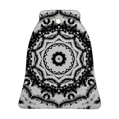 Abstract Pattern Fractal Bell Ornament (two Sides)