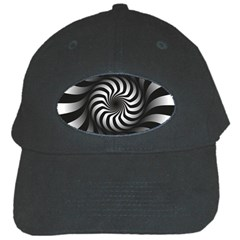 Art Optical Black White Hypnotic Black Cap