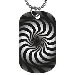 Art Optical Black White Hypnotic Dog Tag (two Sides)