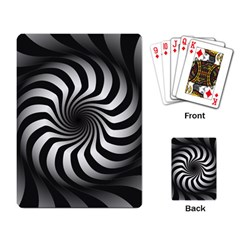 Art Optical Black White Hypnotic Playing Card