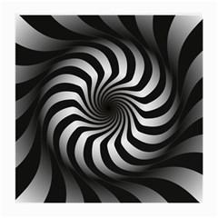 Art Optical Black White Hypnotic Medium Glasses Cloth