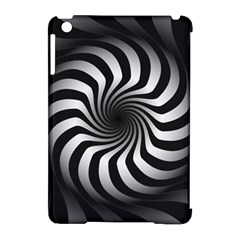 Art Optical Black White Hypnotic Apple Ipad Mini Hardshell Case (compatible With Smart Cover)
