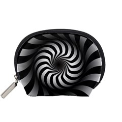 Art Optical Black White Hypnotic Accessory Pouches (small)