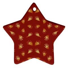 Primitive Art Hands Motif Pattern Ornament (star)